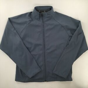 Pearl Izumi Mens M Jacket Soft Shell Bike Cycling Full Zip Stone Blue Grey Warm