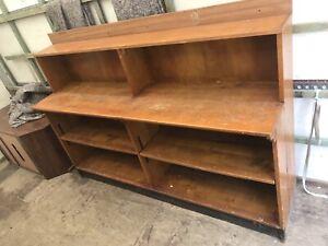 Oak Shop Counter Reception Desk