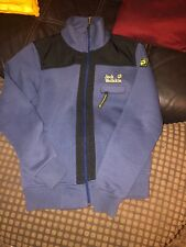 Jack Wolfskin Mens Fleece Style Zipped Jacket Size Small Blue And Black