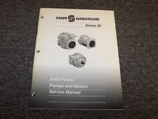 Sauer Sundstrand Series 90 Axial Piston Pumps & Motor Shop Service Repair Manual