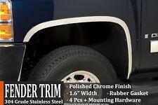 2016-2018 Chevrolet Silverado 1500 Polished Stainless Steel Fender Wheel Molding