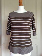 WHITE STUFF *NEW SEASON* Stripe Spot Jersey Tee Haw Green RRP £37.50 UK 6 - 18