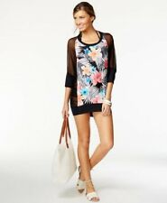 Coco Reef Floral Chiffon Combo Cover Up Black Multi Size Small/Medium