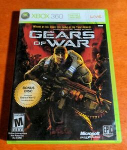 Gears Of War Microsoft Xbox 360 with bonus Disc  Epic Games  Dolby  Mature