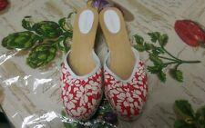 Burberry Women's  Check Wood Clog Sandals Sz 38 US 7.5