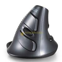 Delux Wireless 2.4G 1600DPI Optical Grab Handle Grip Vertical Mouse Ergonomic