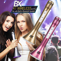 Wireless Bluetooth portable Karaoke 2in1 Microphone and Speaker party gift
