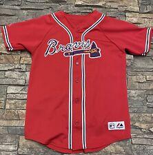 Brian McCann Atlanta Braves Baseball Jersey Majestic MLB Sewn Youth Large 10/12