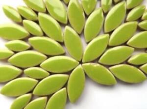 Green Ceramic Petals - Mosaic Tiles Supplies Art Craft