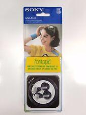 New SONY MDR-E262 Stereo Dynamic Black Earphones Vintage Made in Japan BRAND NEW