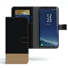 Tasche für Samsung Galaxy S8 Jeans Cover Handy Schutz Hülle Case Schwarz