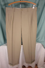 Callaway Golf Wmn Slacks Pants W 36 L 30 Polyester Cuffs hem Chinchilla Tan Nwt