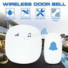 85V-240V Wireless Chime Door Bell Waterproof 300M Range Doorbell 38 Chimes