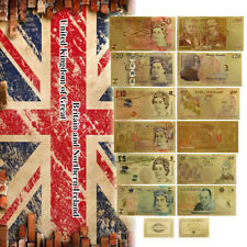 WR Full Set Great Britain GOLD Banknote Old & New £5 £10 £20 £50 UK Pound Notes