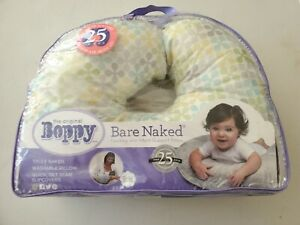 Boppy Bare Naked Feeding and Infant Support Pillow with Multicolor Slipcover