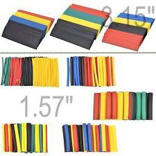 328 PC 2:1 Polyolefin Heat Shrink Tubing Tube Sleeve Wrap Wire Assortment 8 Size