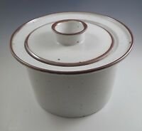 MODERN DANSK BROWN 3 QUART COVERED CASSEROLE, BAKER NIELS REFSGAARD, BLUE MARK