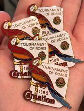 VTG 1988 TOURNAMENT OF ROSES ROSE PARADE BOWL CARNATION LAPEL HAT TIE 5 PIN LOT