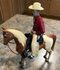 1950's Hartland Red Shirt Champion Cowboy on Breyer horse