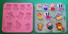 PEPPA PIG FRIENDS 002 SILICONE MOULD FOR CAKE TOPPERS, CHOCOLATE, CLAY ETC