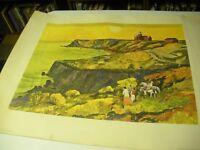 "Millard Sheets Litho Martha's Vineyard, Mass. 22x28"" Awesome on Heavy Paper '64"