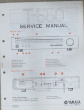 Yamaha T-550 T550 Hifi tuner repair workshop manual (original copy)