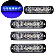 4Pc Blue/Blue 6LED Car Truck Emergency Warning Hazard Flash Strobe Light