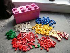 Large Pink Lego Storage Box, plus lego bricks, windows, doors parts as seen