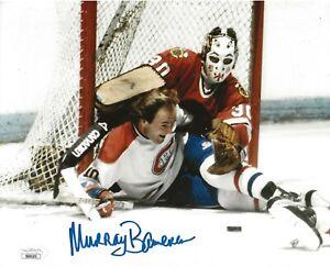 Murray Bannerman signed Chicago Blackhawks 8x10 photo autographed Hawks JSA