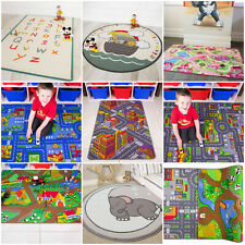 Play Town Village Roads Kids Mats Cheap Small Large Street Cars Childrens Rug