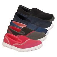 Ladies Get Fit Go Walking Slip On Gym Fitness Trainers Shoes Size 3 4 5 6 7 8
