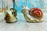 Vintage ANTHROPOMORPHIC Snail Slug Salt Pepper Shakers Porcelain/Ceramic