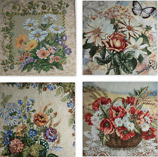 Tapestry Panels Textile Picture Flowers Crafting Fabric 19 11/16x19 11/16in