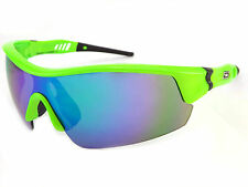 DIRTY DOG Sports Sunglasses EDGE Fluro Green / Green Fusion Mirror 58059