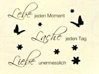 Wand Tattoo Set Liebe Lache Lebe Raum Deko Wandtattoo Klebe Sticker