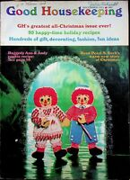 Vtg Good Housekeeping Raggedy Ann & Andy Christmas Magazine 1971 m452