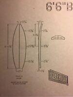 """Clark Foam Surfboard""""vintage Flyer 6'6""""B""""1960-80  Surf(jacobs,velzy,Webber Bing"""