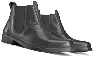 Cowboy Boots for Men Square Toe Genuine Leather Black Western Shoes Mens Sale