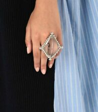 MAISON MARGIELA FW18 Oversized Invisible Diamond Double Ring M NWT!