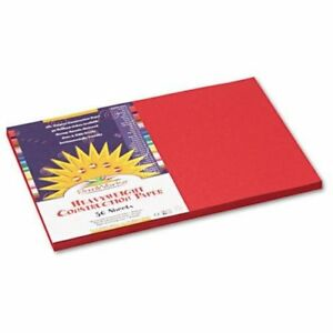"""Pacon Sunworks All-purpose Construction Paper - 18"""" X 12"""" - Red (P6107)"""