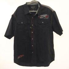 Paper Denim & Cloth Men's Button Down Shirt 2X Black