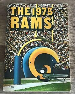 LOS ANGELES RAMS 1975 PRESS GUIDE NFL FOOTBALL MEDIA STATS PHOTOS RECORDS VF