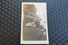 Vintage Car Photo Man in Window 1920s Chrysler Coupe 862