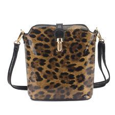Ladies Leopard Animal Print Tote Women Shoulder Bag Studs Satchel Handbag J8032