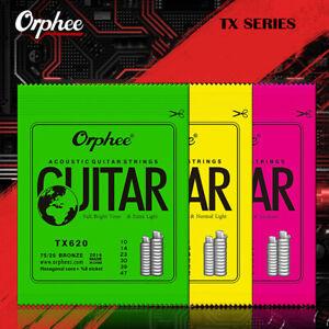 Serie di corde per chitarra acustica tono brillante tono bronzo esagos6