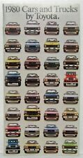 1980 Toyota Cars & Trucks Sales Brochures Corolla Celica Supra Land Cruiser