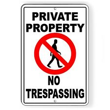 Private Property No Trespassing Metal Sign warning Spp001