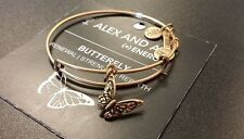 Alex and Ani Gold BUTTERFLY Bangle Bracelet NWT MOM DAUGHTER NEW GIFT
