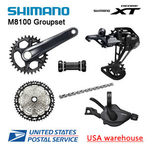 New Shimano Deore XT M8100 1x12 Speed Groupset 30T 32T 34T 170 175mm (OE)