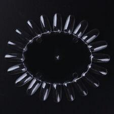 Clear False Nail Tips Nail Art Display Practice Wheel Board Manicure Tool Kit
